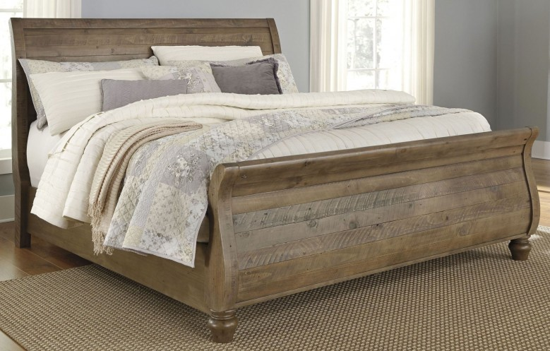Signature Design by Ashley Trishley Light Brown King Sleigh Bed