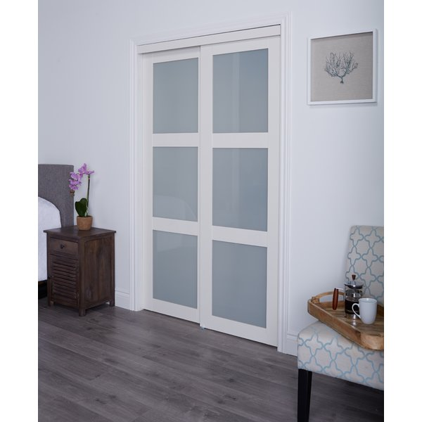 Erias Home Designs Track MDF Sliding Closet Door & Reviews | Wayfair