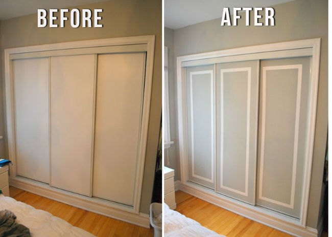 Facelift Those Ugly Sliding Doors | The Crafty Frugalista
