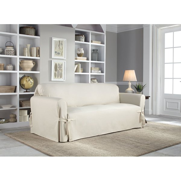 Serta Cotton Duck Box Cushion Sofa Slipcover & Reviews | Wayfair