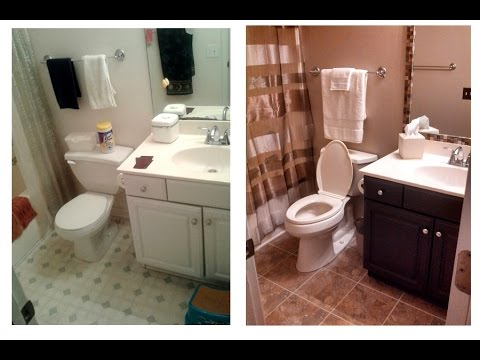 Small Bathroom Renovation DIY - YouTube