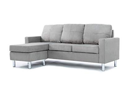 Amazon.com: Divano Roma Furniture Modern Microfiber Sectional Sofa