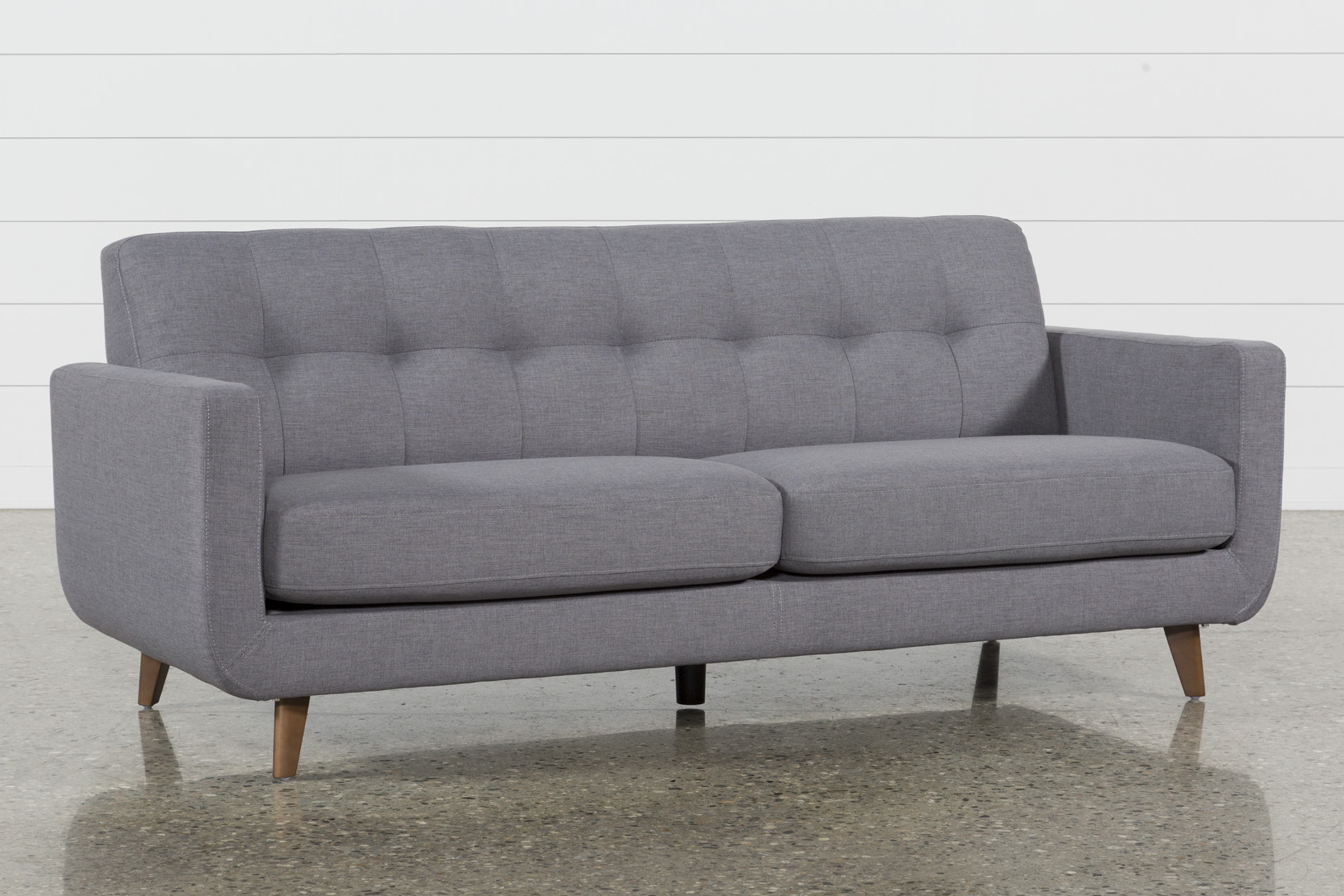 Allie Dark Grey Sofa | Living Spaces