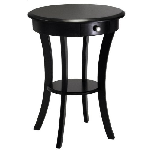 Amazon.com: Small Accent Table For Small Places/Round Black Premium