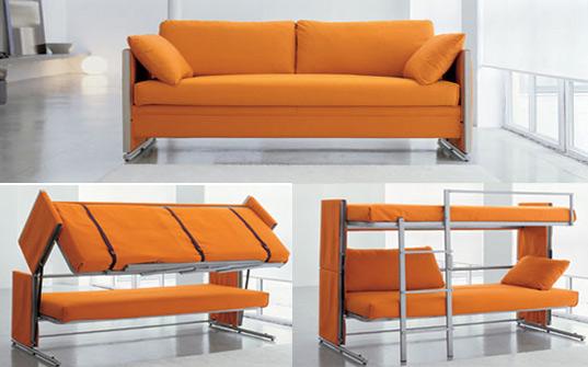 Bonbon's brilliant Doc sofa transforms into a bunk bed in a snap