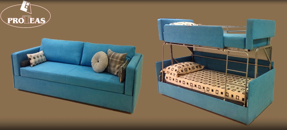 Twinny Couch Morphs into a Bunk Bed Within Seconds