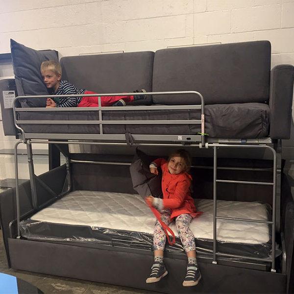 Double Level Bunk Bed u201cCoupeu201d by Suinta, Spain(#703872 FLOOR MODEL