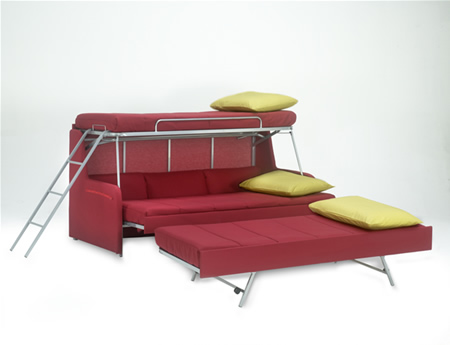 Sofa Bunk Bed for Keeping the Room   Spacious