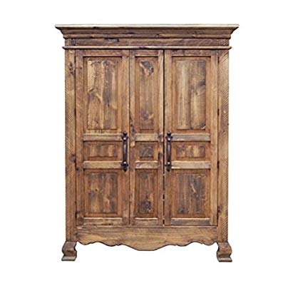 Amazon.com: Rustic 2 Door Reclaimed Walnut Finish Armoire Western