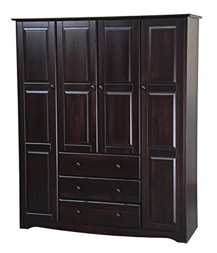 Amazon.com: New! 100% Solid Wood Family Wardrobe/Armoire/Closet 5966