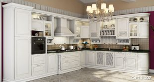 OP14-007: Traditional Birch Solid Wood Kitchen Cabinet