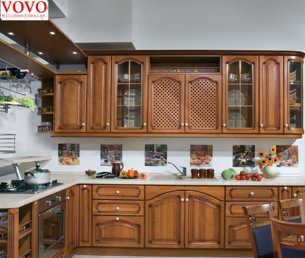 American ash solid wood kitchen cabinets-in Kitchen Cabinets from
