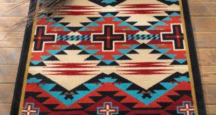 Southwest Rugs: 3 x 4 Rustic Cross Blue Southwestern Rug|Lone Star