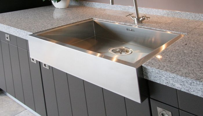 Single-bowl kitchen sink / stainless steel - BARONGA: BAR6054 - ABK