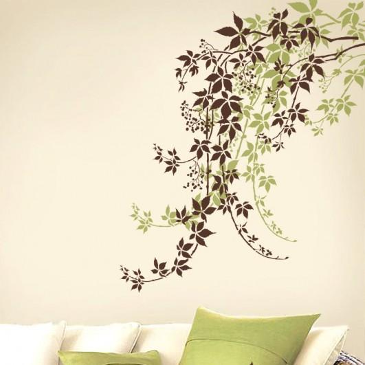 Elegant Vine stencil for easy wall decor. Modern wall stencils for DIY