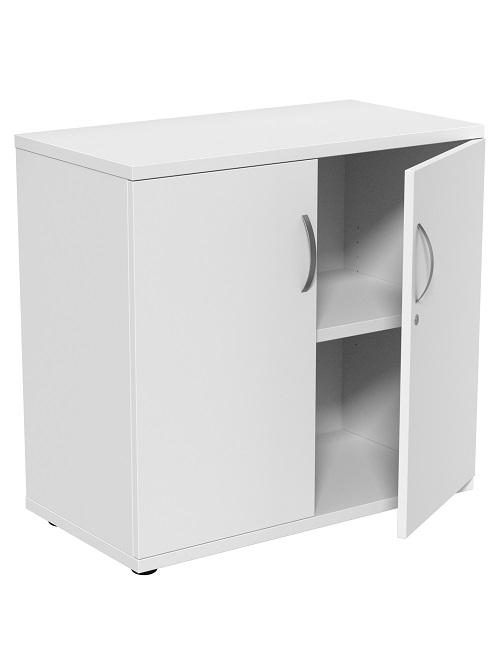 White Desk High Storage Cupboard