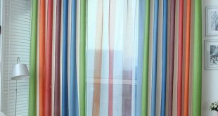 Rainbow Striped Curtains For Dining Room Bedroom Explosion Models
