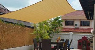 Amazon.com : 10' x 13' Sun Shade Sails Canopy Rectangle Sand, 185GSM