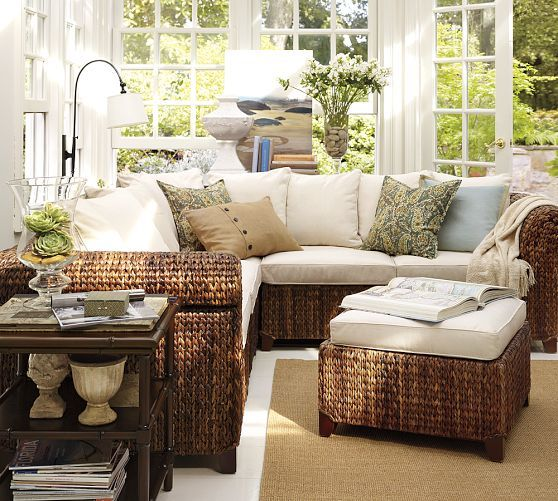Seagrass Sectional Ottoman in 2019   Russell - Porch   Pinterest