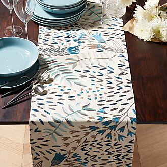 Table Runners: Linen, Cotton & Polyester | Crate and Barrel