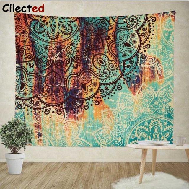 Cilected Bohemian Mandala Tapestry Wall Hanging Indian Wall Decor