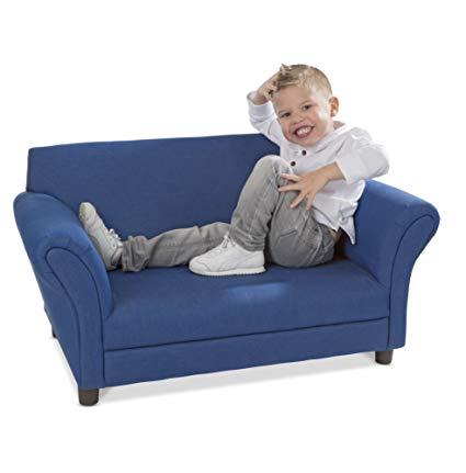 Amazon.com: Melissa & Doug Child's Sofa - Denim Children's Furniture