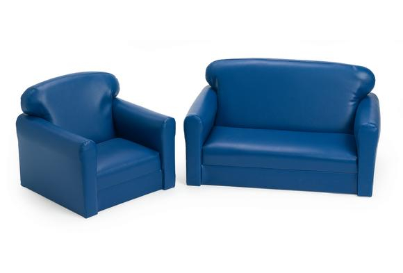 Vinyl Toddler Sofa & Chair Set