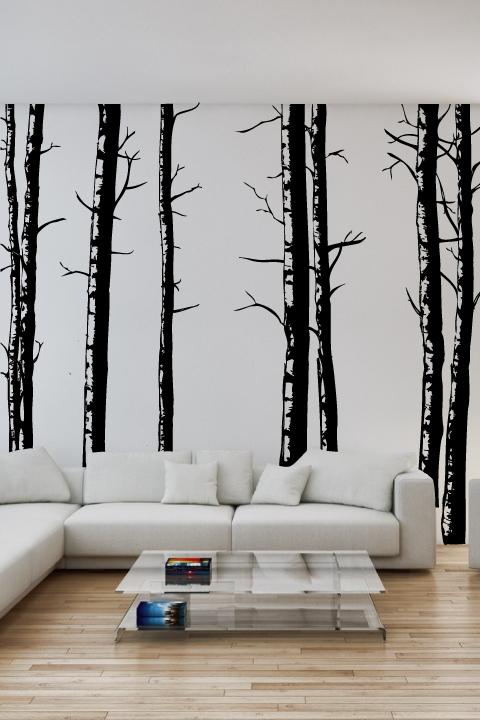 Wall Decals Birch Trees- WALLTAT.com Art Without Boundaries