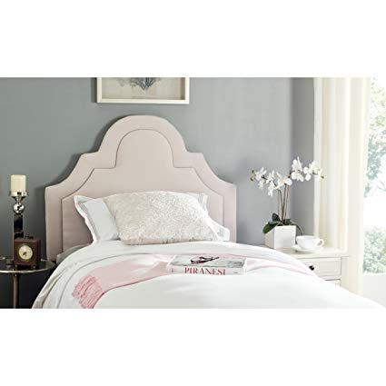Amazon.com - Safavieh Kerstin Taupe Linen Upholstered Arched