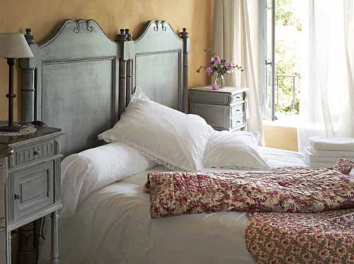 Put two twin headboards together to make a king headboard. I've