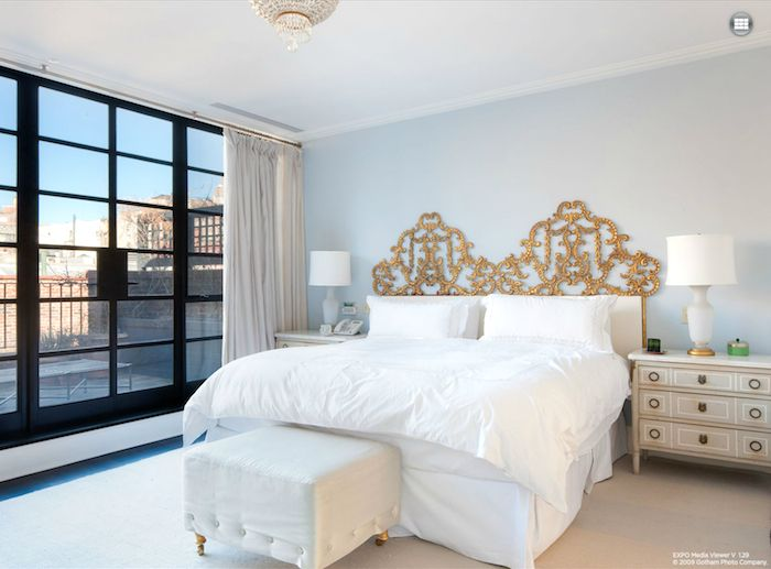 Love the two twin headboards put together to make king, euro bedding
