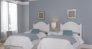 Shop Bermuda Two Twin Headboards and Night Stand by Home Styles