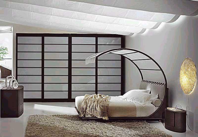Bedroom Designs: Modern Sense Bed Frame White Shade Unique Bedroom