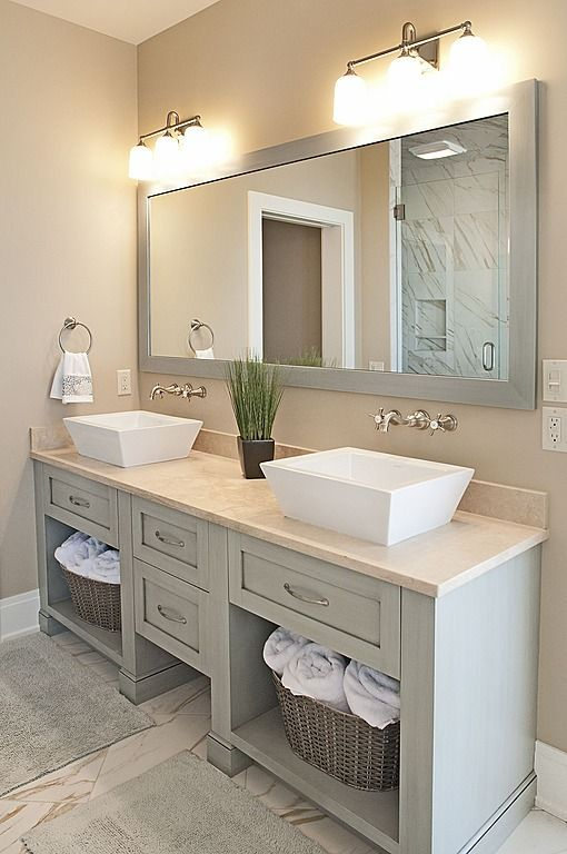 35 Cool and Creative Double Sink Vanity Design Ideas | contemporary