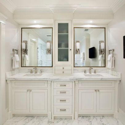 Double Vanity Master Bath Design, Pictures, Remodel, Decor and Ideas