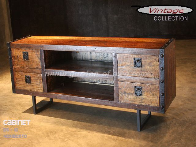 Vintage wood furniture | Garden of Asia