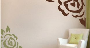 Corner Rose Vinyl Wall Art Design | Trendy Wall Designs