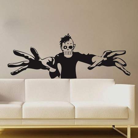3D Zombie Wall Art Mural - Trendy Wall Designs