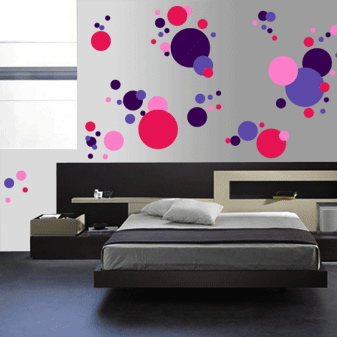 Cool Polka Dots Wall Art Design | Trendy Wall Designs