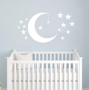 Amazon.com: Moon and Stars Wall Decals Baby Room Nursery Clouds Wall