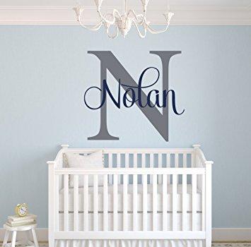 Amazon.com: Custom Name Monogram Wall Decal - Nursery Wall Decals