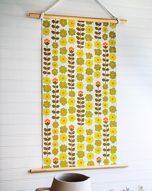 Vintage Wallpaper Wall Hanging | Sweet Paul Magazine