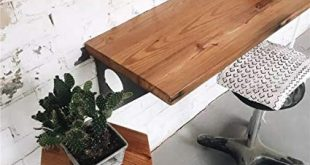 Amazon.com: Industrial Rustic Wall-mounted Table, Dining Table Desk