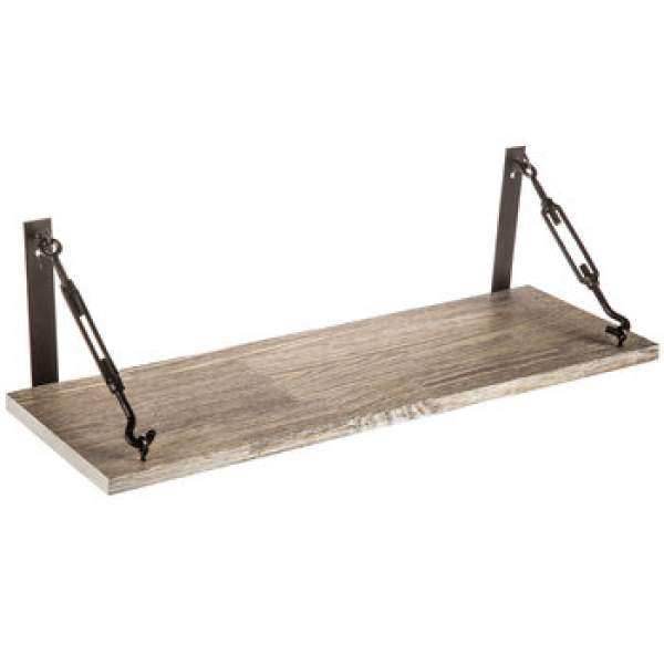 Barnwood Industrial Wall Shelf :: Shelves