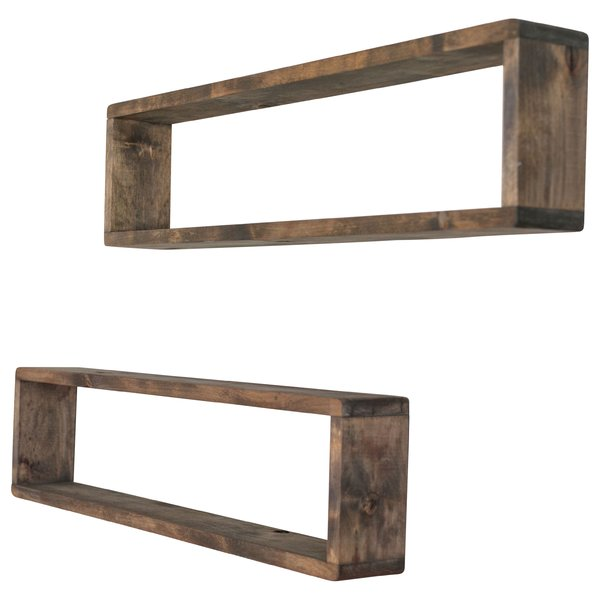 Union Rustic Perdomo Stackable Long Box Wall Shelf & Reviews | Wayfair
