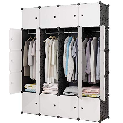Amazon.com: KOUSI Portable Closet Wardrobe Closets Clothes Wardrobe