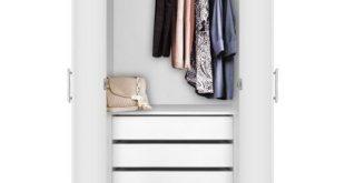 Alta Wardrobe Closet - 2 Doors, 4 Interior Drawers | Contempo Space