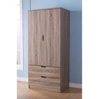 Shop Gorgeous Brown Finish Two Door Wardrobe With Two Drawers