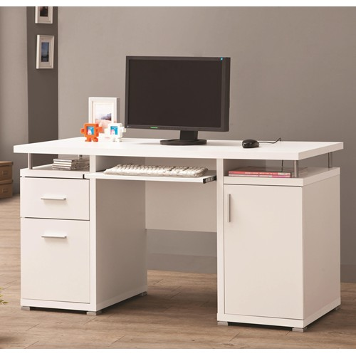 Desks, Home Office - White Computer Desk CO 800108 |
