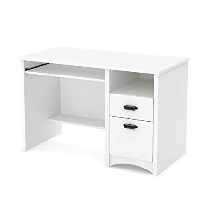 Amazon.com: South Shore 7360070 Computer Desk with 2 Drawers and